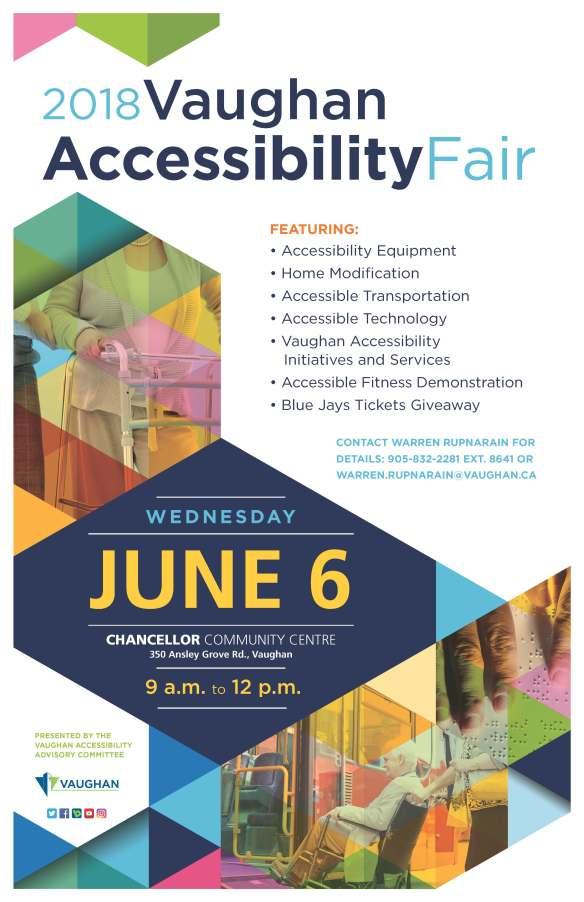 2018 VaughanAccessibilityFair Poster